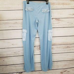 BCBGMaxAzria Pants - BCBGMaxAzria Terry Track Pants Shiny Satin Pockets